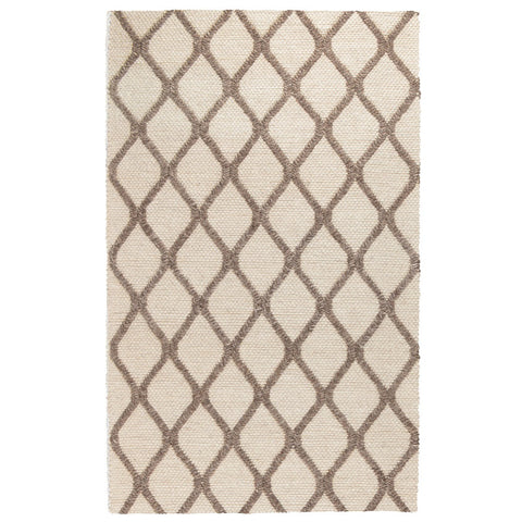 Mia Wool Rug in Cream & Mocha