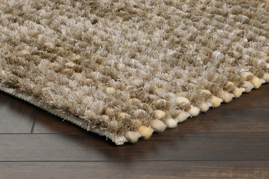 Pebble Shag Rug in Silver