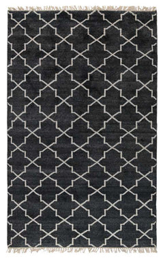 Hand Knotted Terrace Rug in Charcoal by BD Home