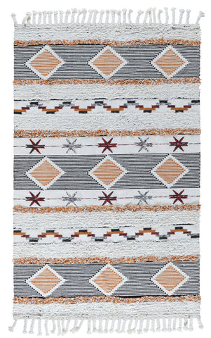 Fortuna Kilim Shag Rug in Multi by BD Home