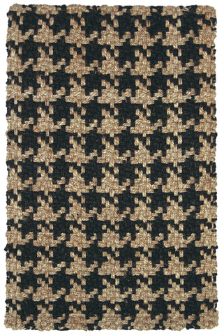 Houndstooth Rug in Black by BD Home