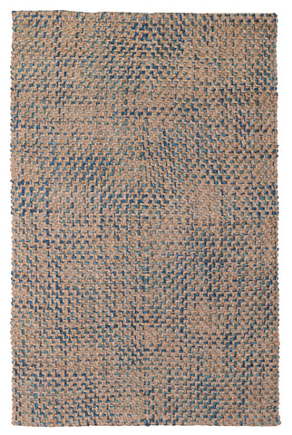 Ladera Diamond Rug in Navy & Turquoise by BD Home