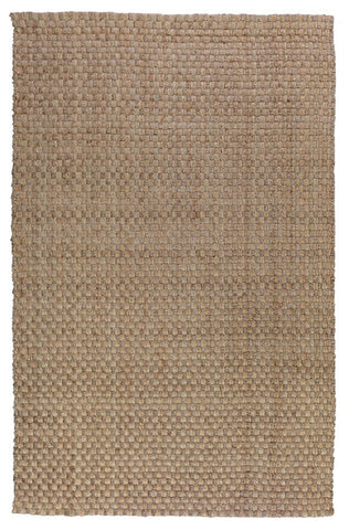 Basket Weave Rug in Natural & Grey design by Classic Home