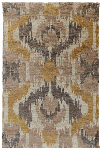 Ithaca Ikat Rug in Gold by BD Home