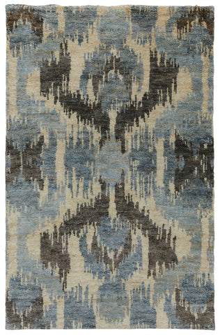 Ithaca Ikat Rug in Blue by BD Home
