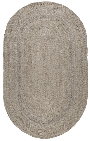 Odessa Oval Jute Rug in Silver by BD Home