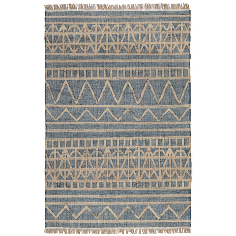Kingston Distressed Rug in Sapphire by BD Home