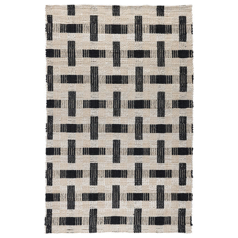 Preston Rug in Ivory & Black by BD Home