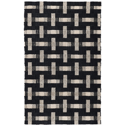 Preston Rug in Black & Ivory by BD Home