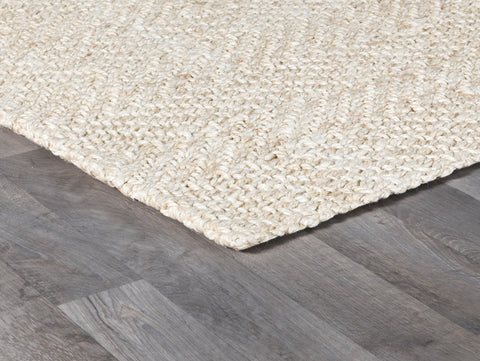 Herringbone Rug in Ivory