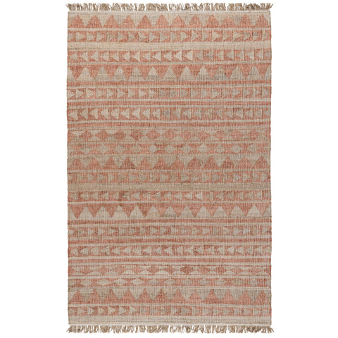 Solana Distressed Rug in Terracotta & Natural by BD Home
