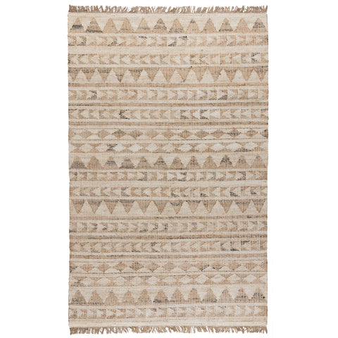 Solana Distressed Rug in Ivory & Natural by BD Home