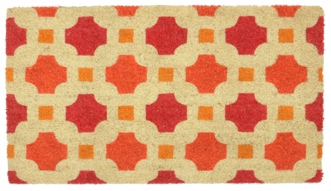 Dylan Doormat in Red & Orange by BD Home