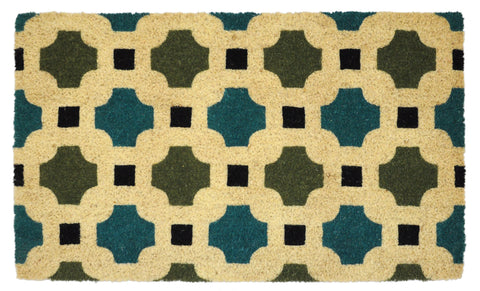 Dylan Doormat in Blue & Green by BD Home