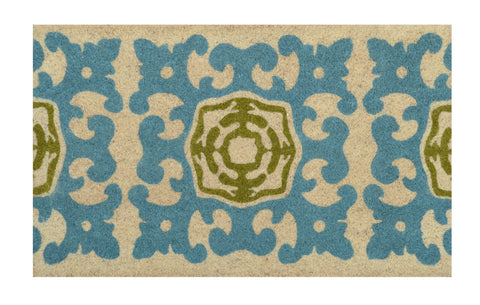 Sacha Doormat in Teal & Green by BD Home
