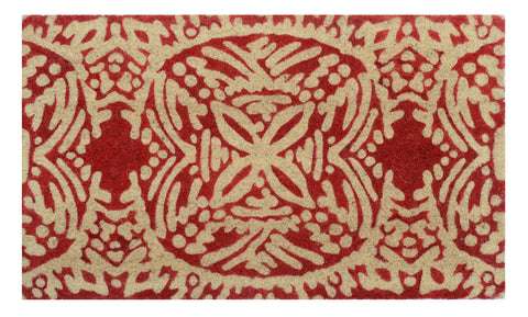 Leon Doormat in Red by BD Home