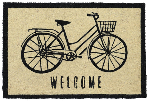 Bicycle Doormat in Black by BD Home