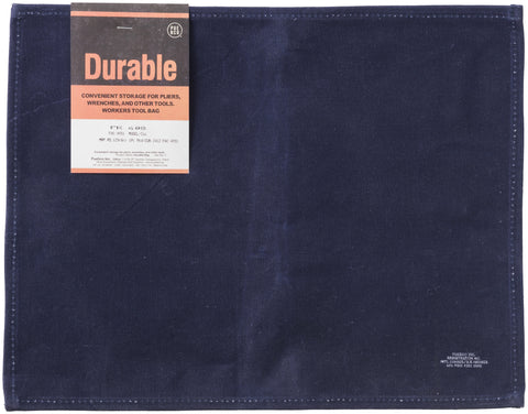 Waxed Cotton Placemat - Navy Blue