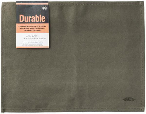 Waxed Cotton Placemat - Green