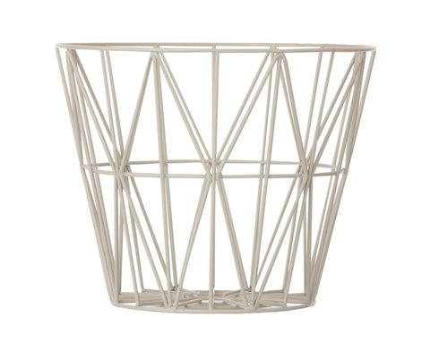 Large Wire Basket in Grey design by Ferm Living