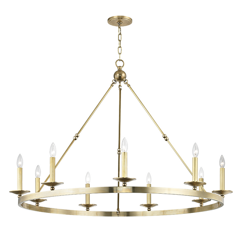 Allendale 9 Light Chandelier by Hudson Valley Lighting