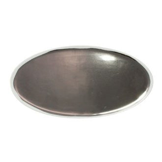 Dauville Platinum Glazed Oval Platter design by Canvas