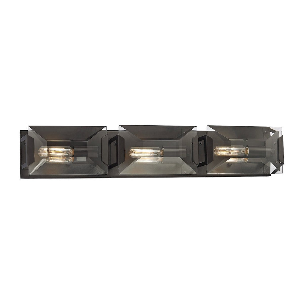 Garrett 3-Light Vanity Sconce in Oil Rubbed Bronze with Clear Crystal by BD Fine Lighting