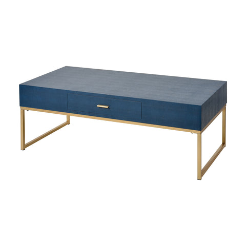 Les Revoires Coffee Table in Navy Blue by Burke Decor Home