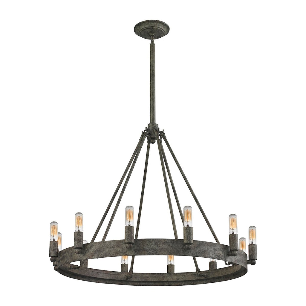 Lewisburg 12-Light Chandelier in Malted Rust by BD Fine Lighting