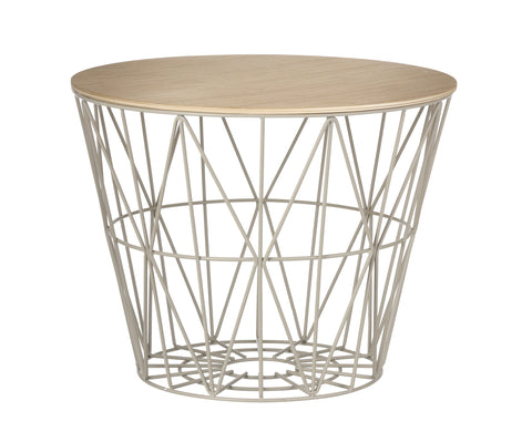 Wire Basket Top Oiled Oak in Various Sizes design by Ferm Living