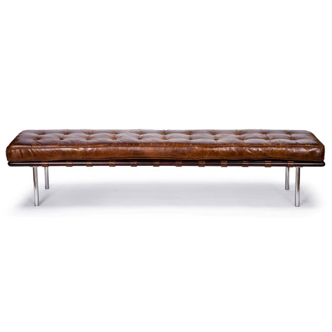 Tufted Gallery Bench in Cigar design by Regina Andrew
