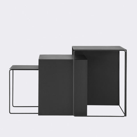Set of 3 Cluster Tables in Black by Ferm Living