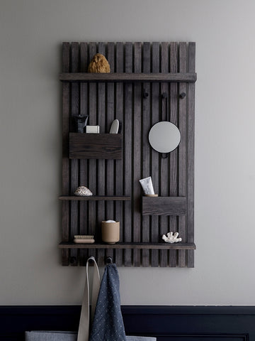 Wooden Multi Shelf in Stained Black by Ferm Living