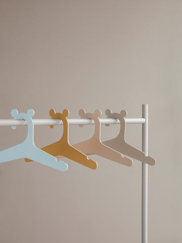 Set of 5 Kids Hanger in Curry design by Ferm Living