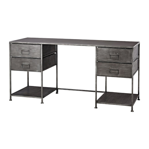 Gunthery 4-Drawer Desk in Graphite by Burke Decor Home