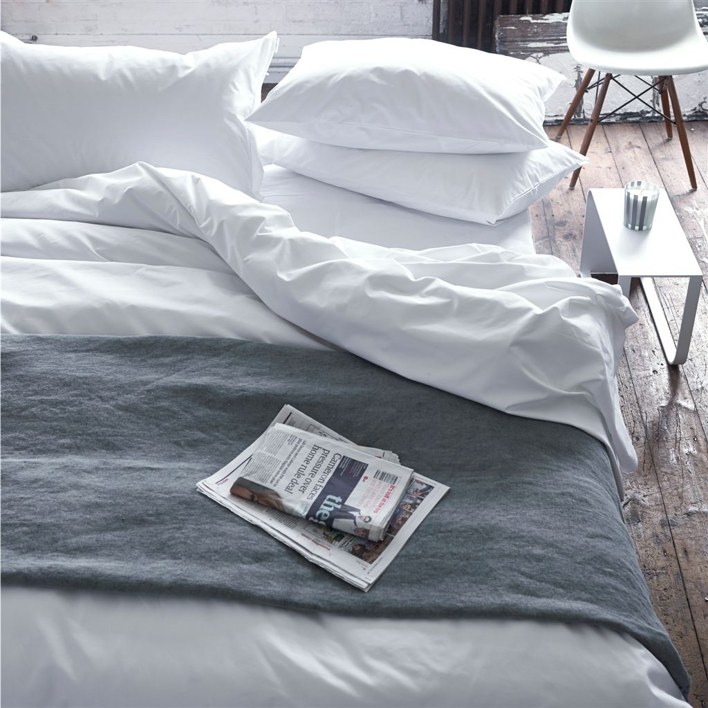 Tribeca White Bedding design by Designers Guild