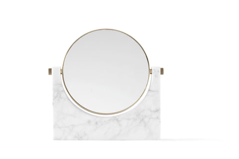 Pepe Marble Mirror in White