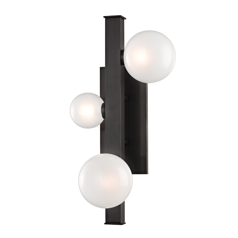 Mini Hinsdale 3 Light Wall Sconce by Hudson Valley Lighting