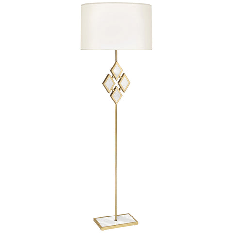 Edward Floor Lamp in Various Finishes design by Robert Abbey