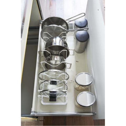 Tower Adjustable Lid & Pan Organizer by Yamazaki
