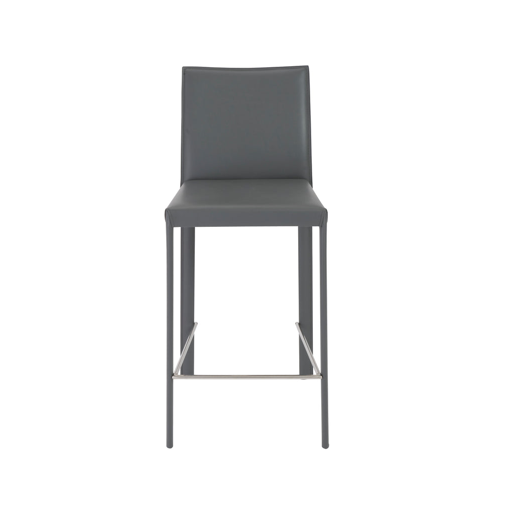 Hasina Bar + Counter Stools in Grey by Euro Style