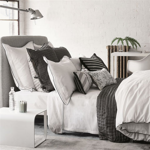 Astor Charcoal & Dove Bedding design by Designers Guild