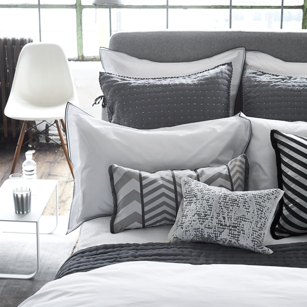 Astor Charcoal & Dove Bedding