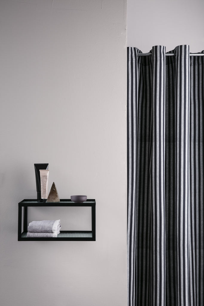 Chambray Shower Curtain in Striped design by Ferm Living