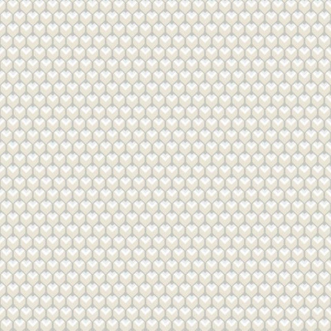 Sample 3D Petite Hexagons Peel & Stick Wallpaper in Beige by RoomMates for York Wallcoverings