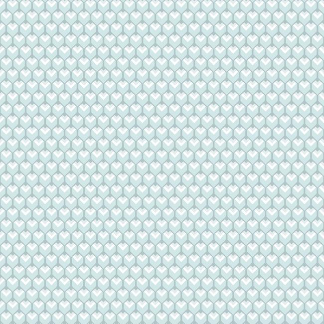 Sample 3D Petite Hexagons Peel & Stick Wallpaper in Blue by RoomMates for York Wallcoverings