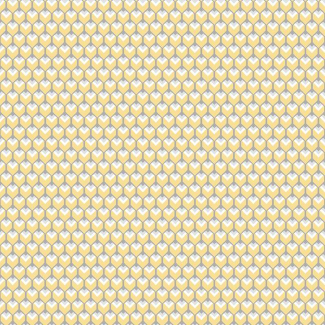 3D Petite Hexagons Peel & Stick Wallpaper in Yellow by RoomMates for York Wallcoverings