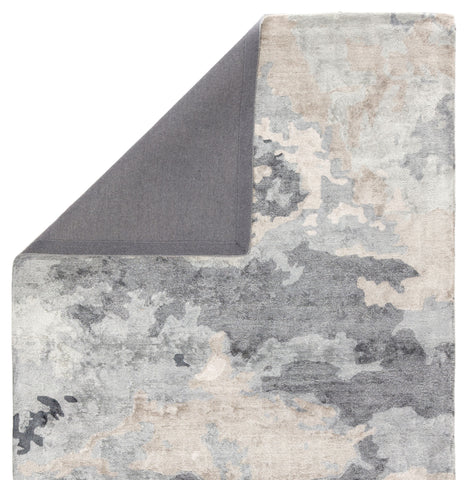 Glacier Handmade Abstract Gray/ Dark Blue Area Rug by Jaipur Living