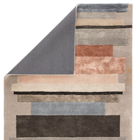 Parallel Handmade Geometric Gray/ Pink Area Rug by Jaipur Living