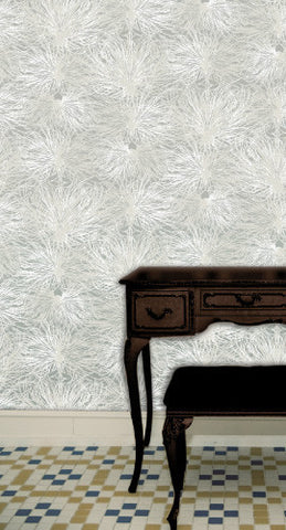 Anemone Wallpaper in Snowflower design by Jill Malek